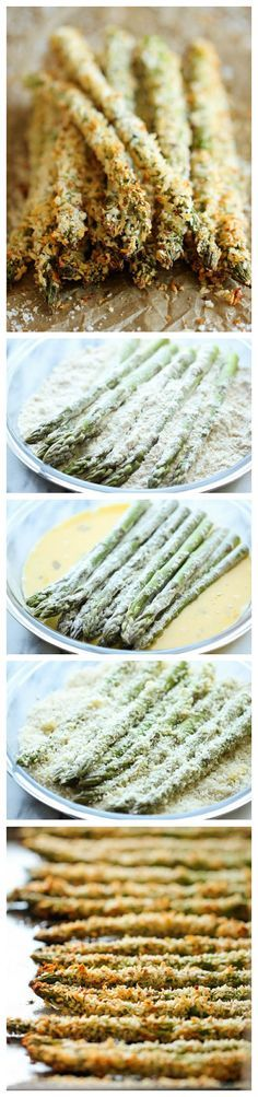Baked Asparagus Fries - A healthy alternative to french fries baked to crisp perfection right in the oven!
