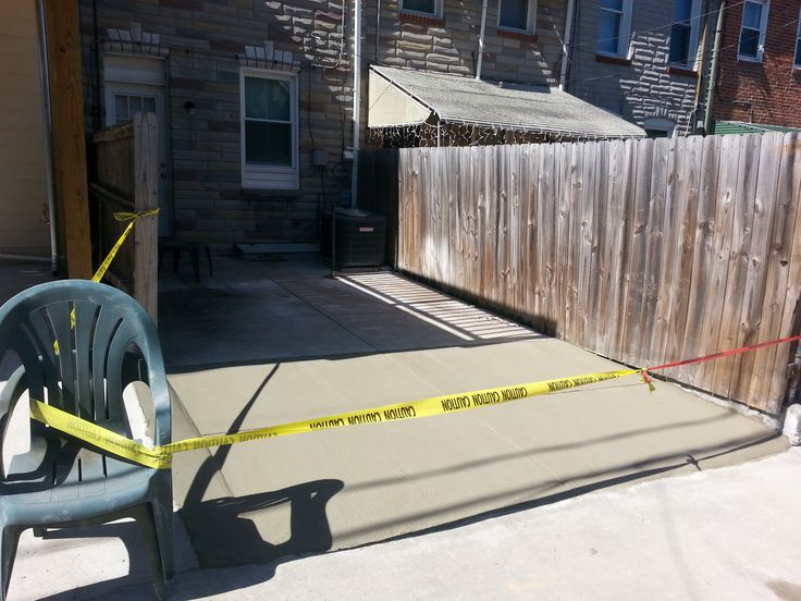 Concrete Parking Pad Baltimore City. Permeable pavers