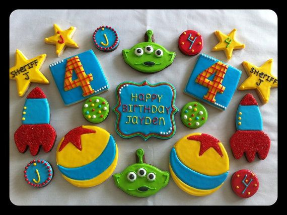 images of toy themed cookies | Toy Story Themed Cookie Arrangement