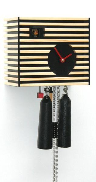 Modern Cuckoo Clock Bauhaus Design by Rombach & Haas