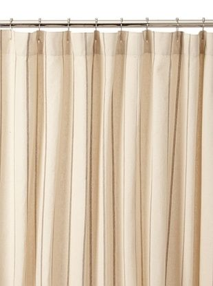 Chateau Blanc Neutral Stripe Shower Curtain, Neutral
