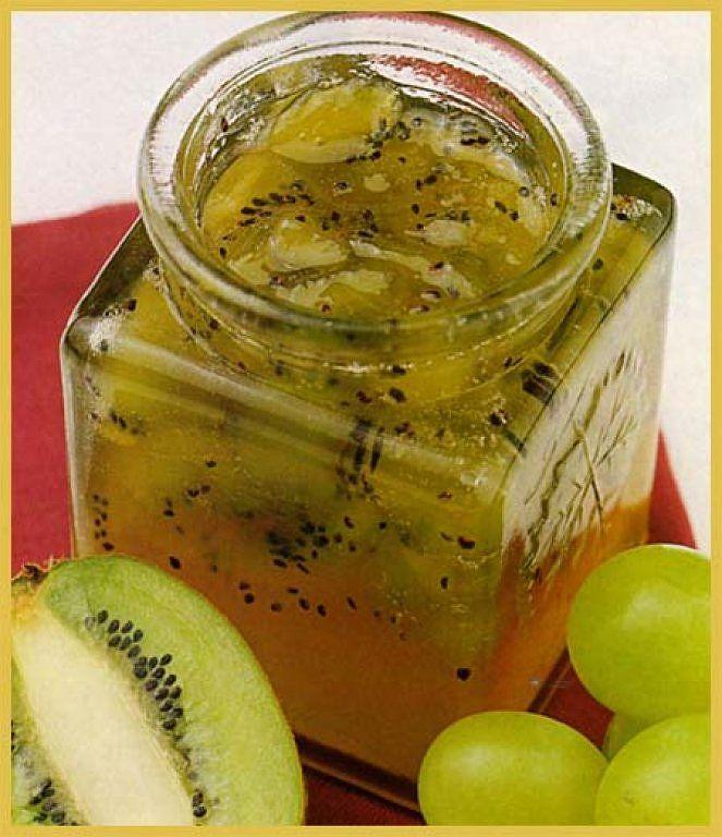 Mermelada de kiwi y uva
