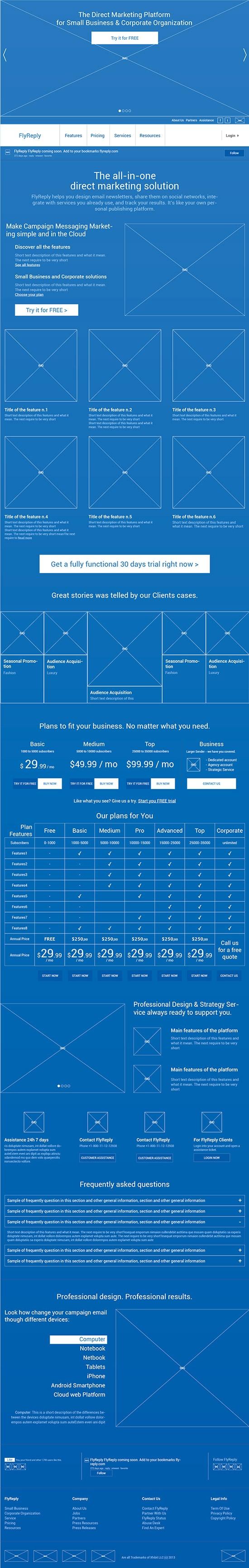 BluePrint Wireframe #blueprint #wireframe #ux #ui