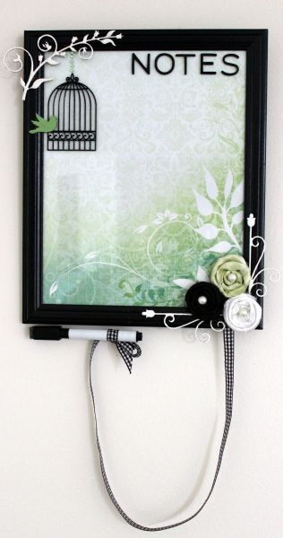 This DIY dry erase board is blooming with creativity. We love it!