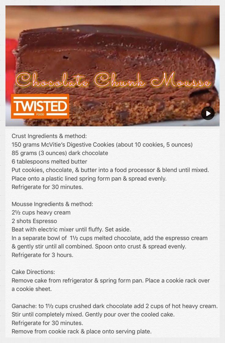 Chocolate Chunk Mousse cake.