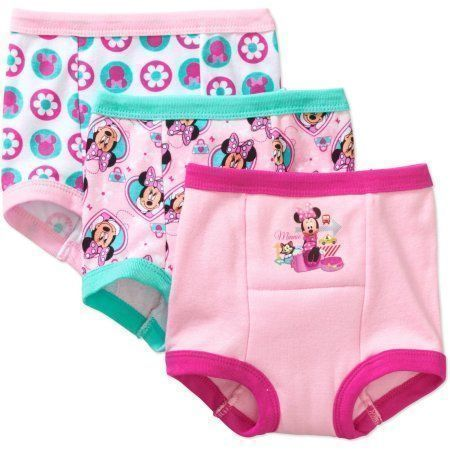 Minnie Mouse Toddler Girls' Training Pants, 3 Pack, Assorted #toddlertrainingpantgirl #toddlertrainingpants #toddlerpants