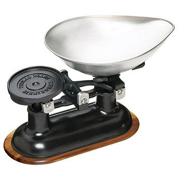 Traditional Cast Iron Balance Kitchen Weighing Scale - from Lakeland