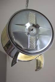 Lamp van een wasmachine trommel.