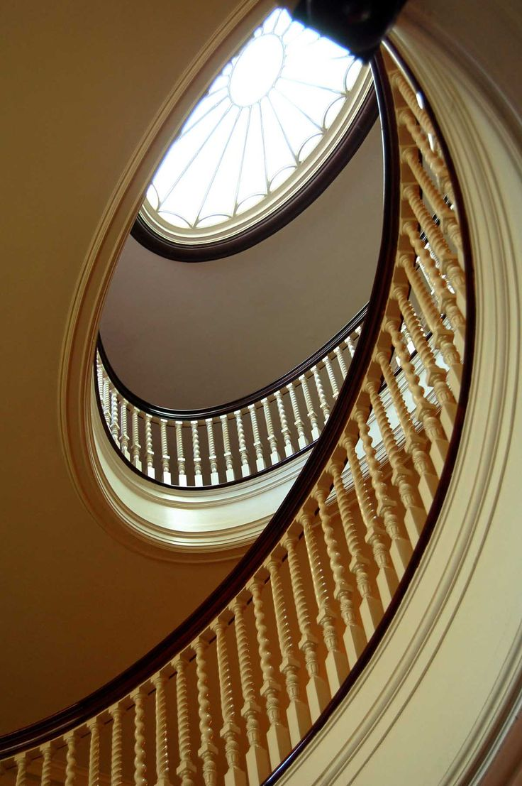Eastman House spiral staircase. George Eastman House: International Museum of Photography and Film, Rochester NY.