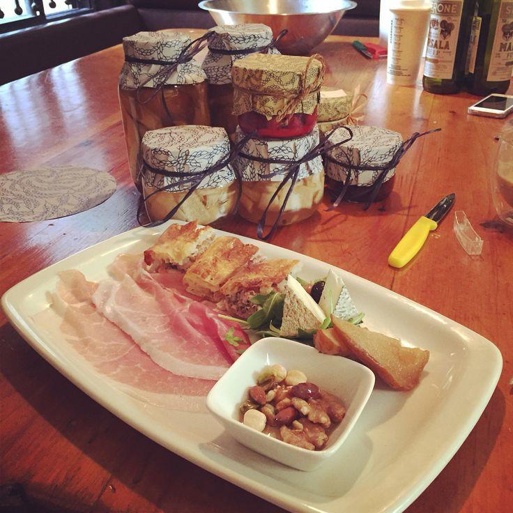 Setting up a tasting for blogger extraordinaire @alexaclark @terroniTo @sudforno. A little Italian love.