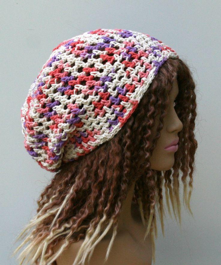 New to PurpleSageDesignz on Etsy: Cotton snood smaller Dread Tam cotton Hair wrangler beach hat Slouchy Beanie (16.00 USD)