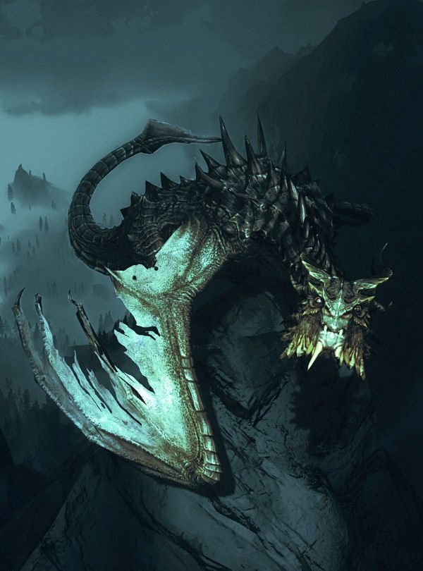 Skyrim Dragon- Paarthurnax