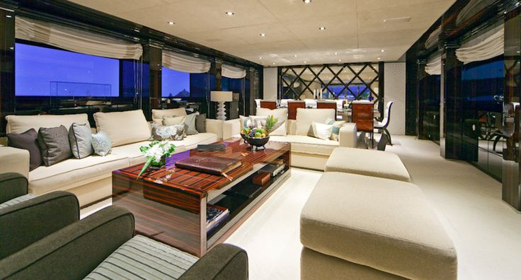 unique yacht interiors pictures | Yacht Charter Luxury Charter Yacht MANIFIQ Main Salon - Interior ...