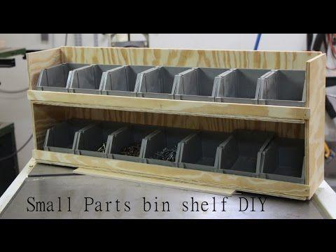 Shop Garage Storage, Small parts bin shelf.   DIY