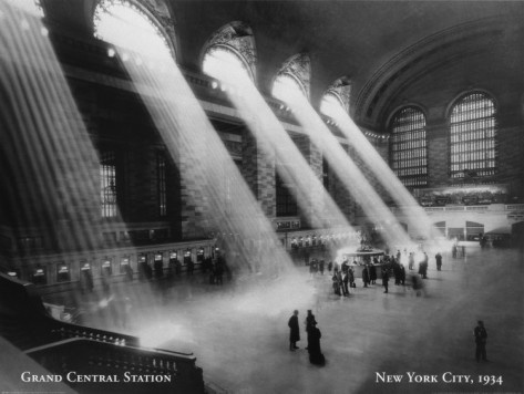 "Classic...and I imagine my christian upbringing plays a role in my fondness for this photo, as it's hard to deny the heavenly evocation - ""Grand Central Station, New York City, 1934"""