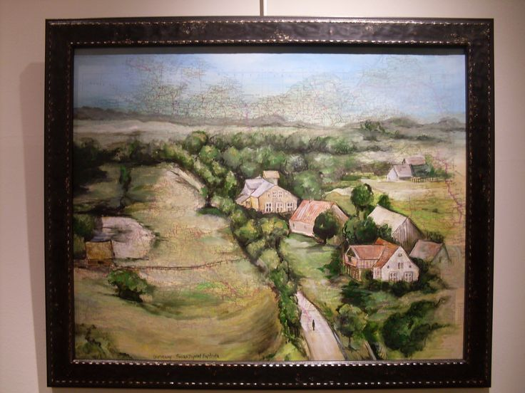 """The Homestead, Germany"" acrylics on map by SD Baptista"