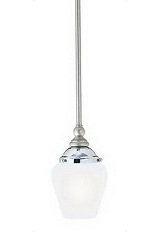 thomas lighting m25554 mini pendant in satin nickel u0026 chrome finish and cased satin