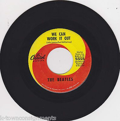 THE BEATLES DAY TRIPPER & WE CAN WORK IT OUT VINTAGE CAPITOL MUSIC RECORD