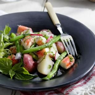 creamy potato red potato red potato salad with scallions radishes ...