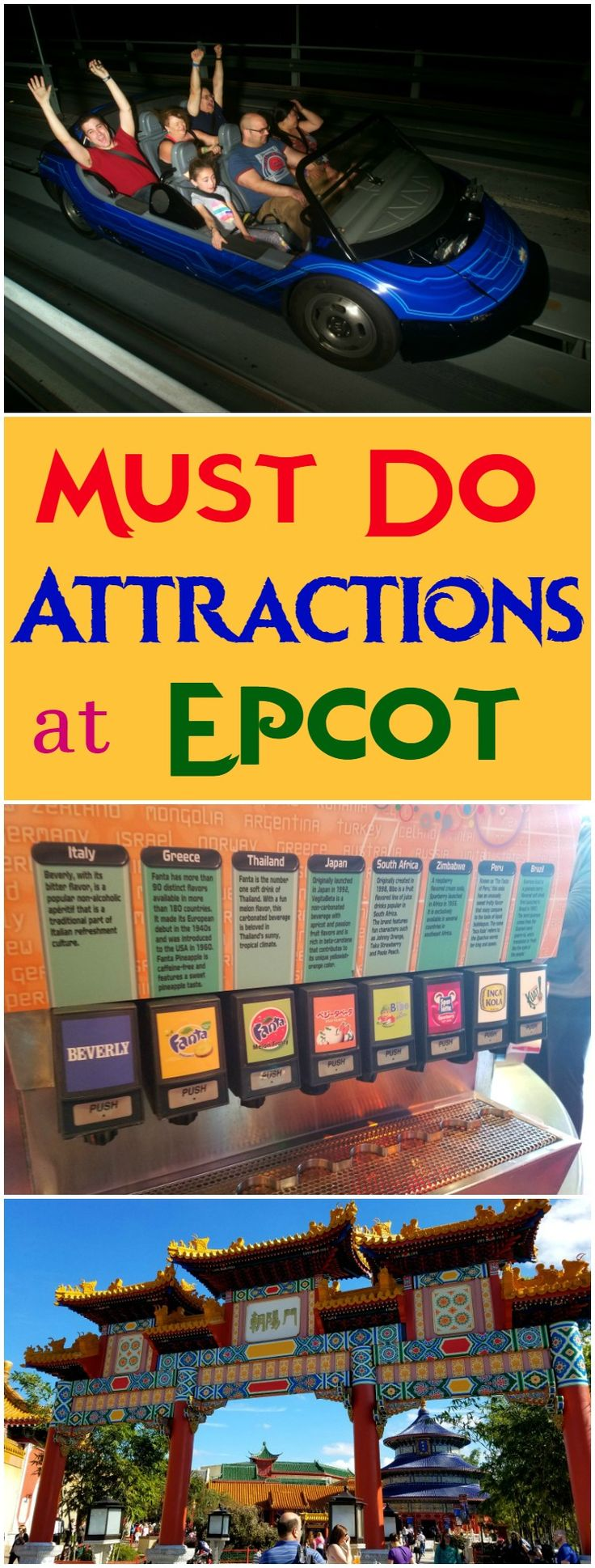 Epcot has so many amazing attractions. Here are a few that you will want to visit while at Epcot in Walt Disney World.
