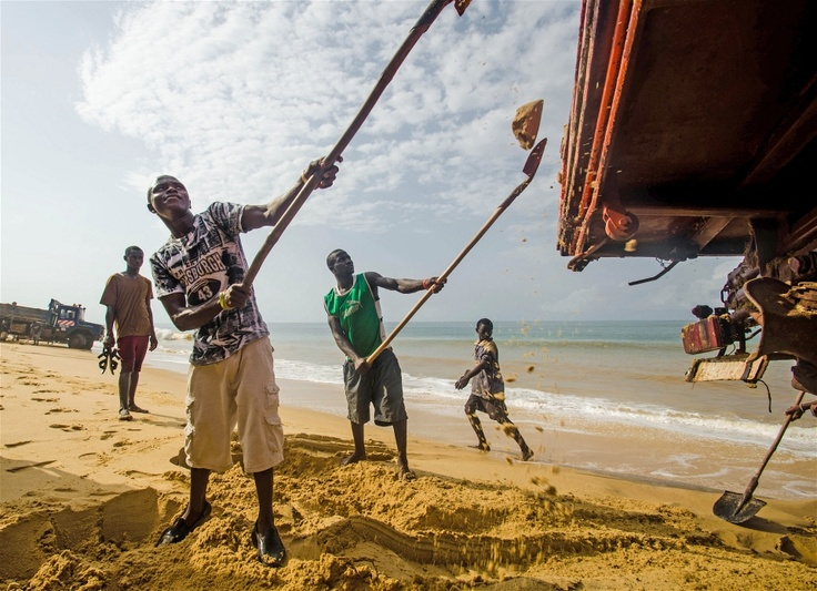 Sand mining and work in tourism are now more lucrative than fishing