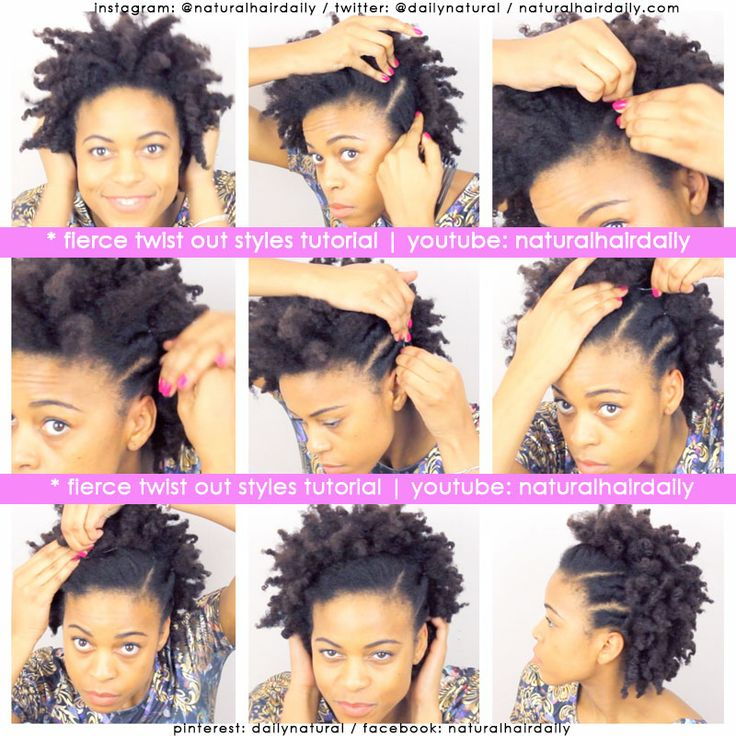 Prime 1000 Images About Tutorials Easy Natural Hair Styles On Short Hairstyles For Black Women Fulllsitofus