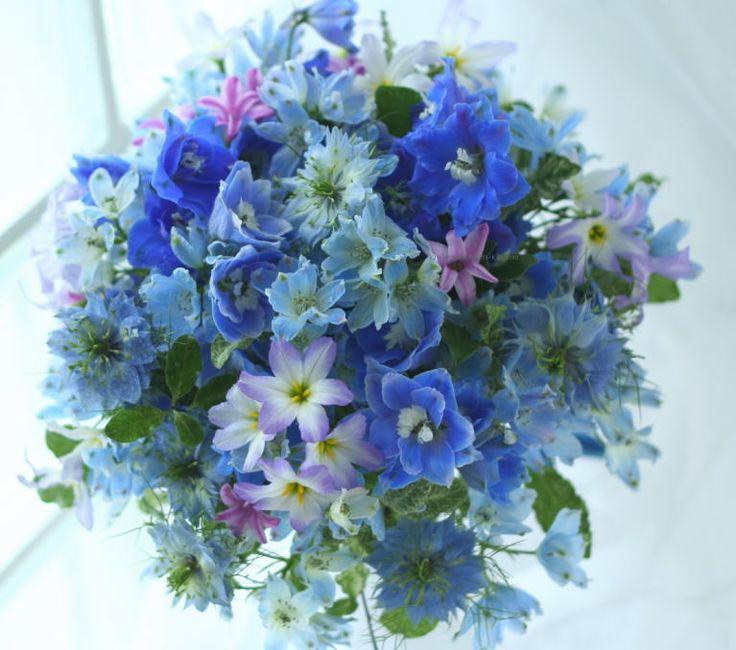 海色のドレスに : 一会 ウエディングの花