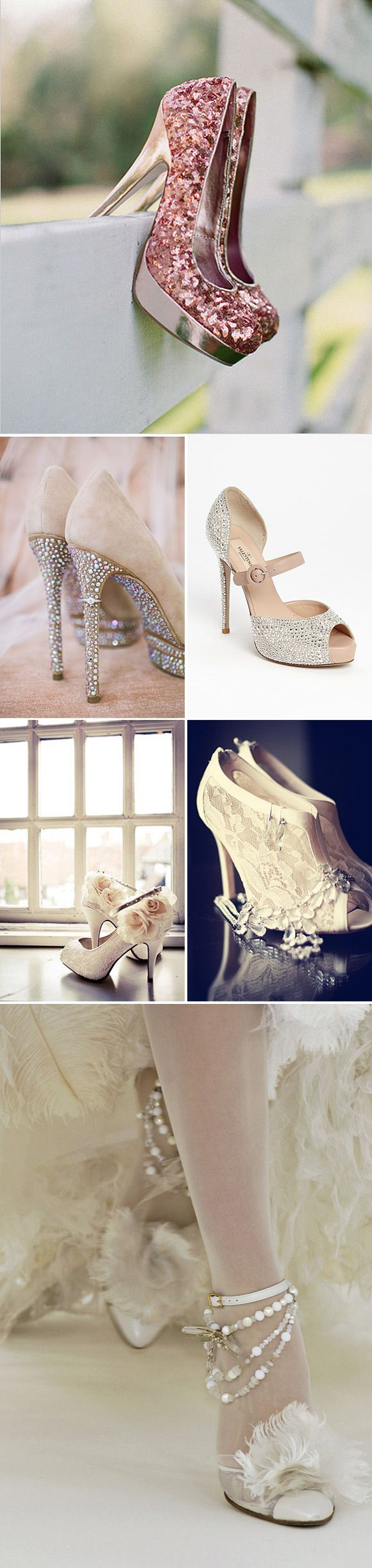 Zapatos de novia con taconazos de película High heel wedding shoes