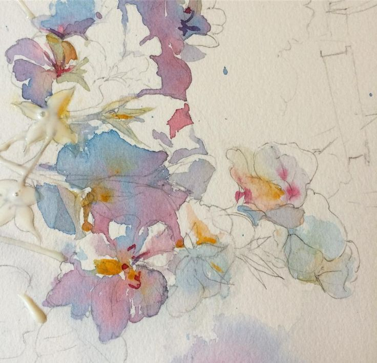 Sunday watercolor. #creativeprocess it's just the beginning:)