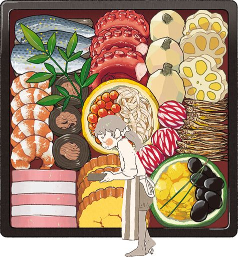 New Year food ~ Web-tana