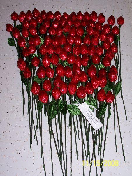 Chocolate Hershey Kiss Rose Wedding Favors