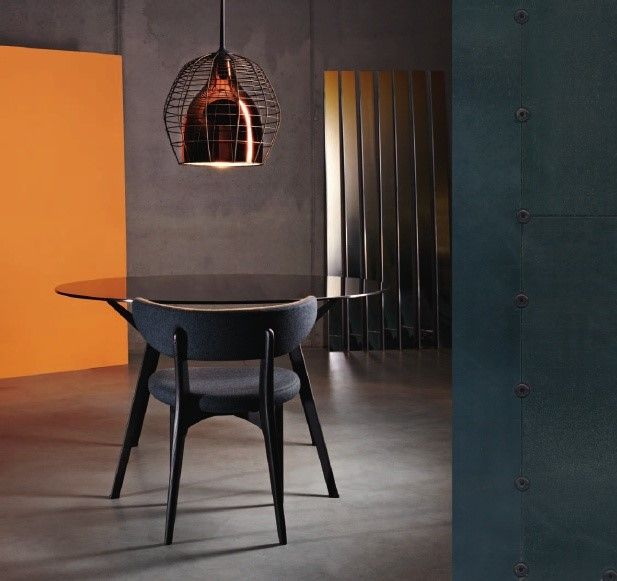 A #rock and roll #design for this #table by #Diesel that inspires unconventional moments around it. http://www.malfattistore.it/?product=pylon-bronze #malfattistore #interiordesign #shoponline #kitchen #diningroom
