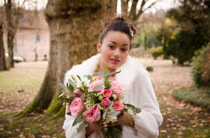 Bouquet of roses, freesia, eucalyptus, ornithogulum, rosemary by Le Coeur Sauvage. Photography by Innate Form Photography, Make up by Samantha Matthews Make up artist and hair by Emma Lousie hairstylist.
