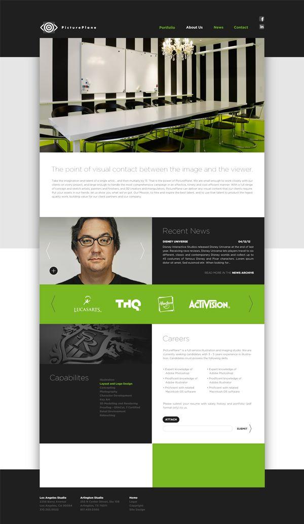 PicturePlane by David Whaite, via BehanceGui Webdesign, Web Design, Offices Design, Behance Webdesign, Interiors Design, Colors Combinations, David Whait, Black White, Behance Network