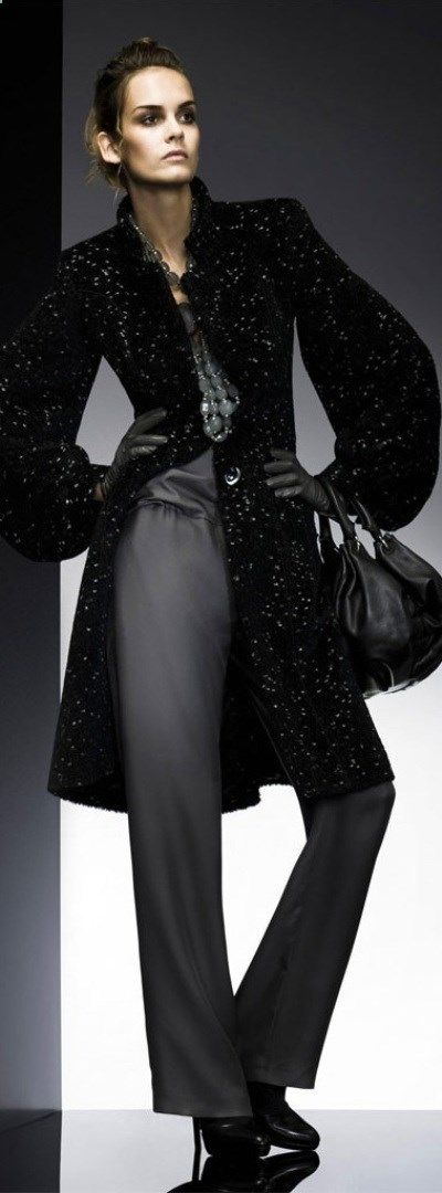 Giorgio Armani ~ ♥. The unstructured exaggerated styling often looks good on women; in my opinion it rarely looks good on men. (a favourite repin of VIP Fashion Australia www.vipfashionaus... - Specialising in blacklabel fashion - womens clothing Australia - Italian fashion) What is your fashion style?