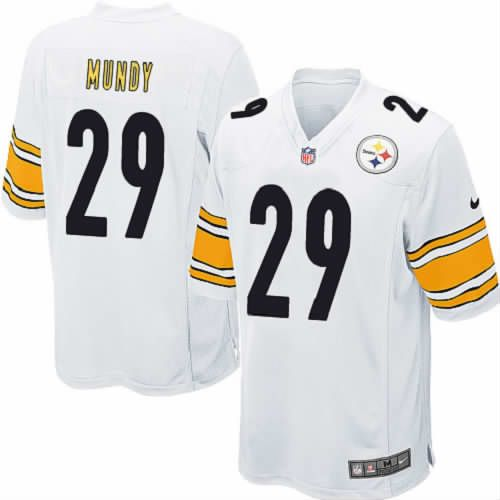 Nike Pittsburgh Steelers Men White Jersey #29 Limited Ryan Mundy NFL Jersey Sale