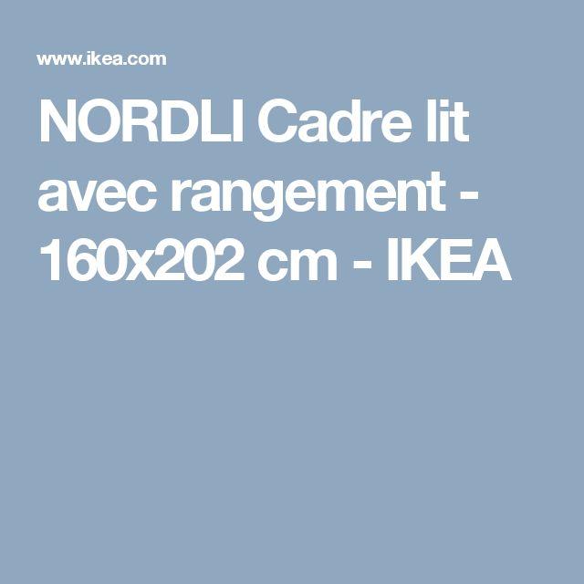 1000 id es propos de lit 160x200 sur pinterest mezzanine design lits po - Cadre de lit avec rangement 160x200 ...