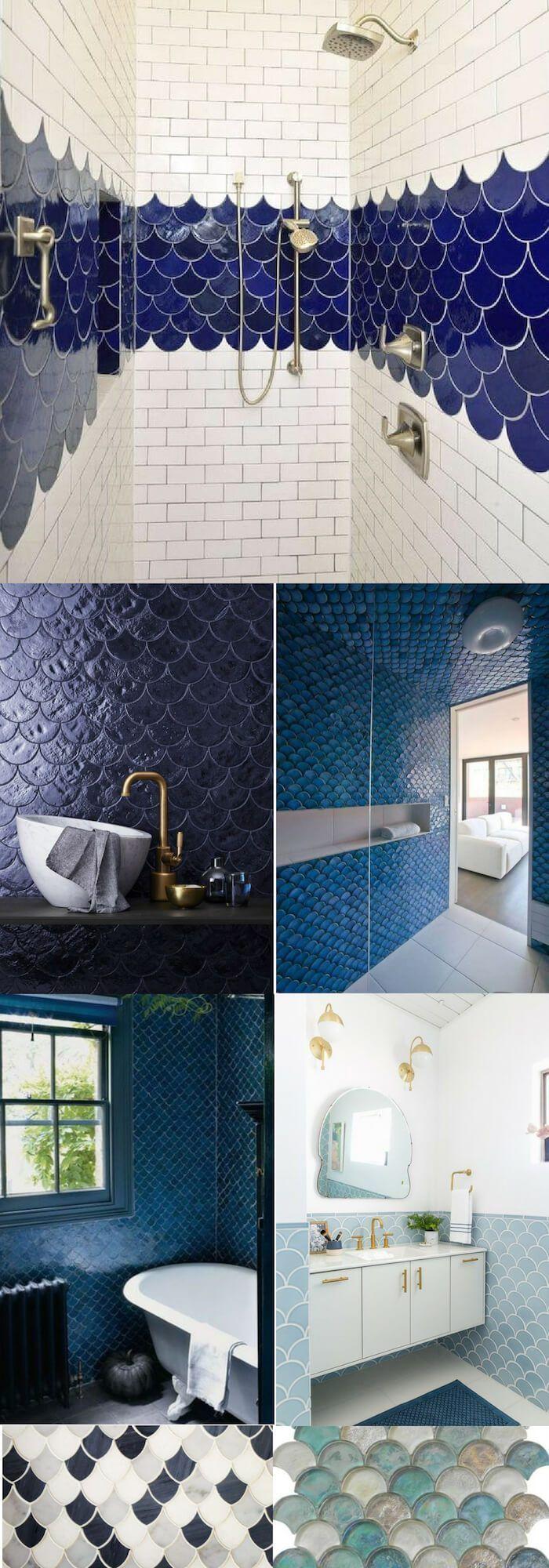 3 Small Bathroom Ideas Using Moroccan Fish Scales Fish Scale Tile Amazing Bathrooms Small Bathroom