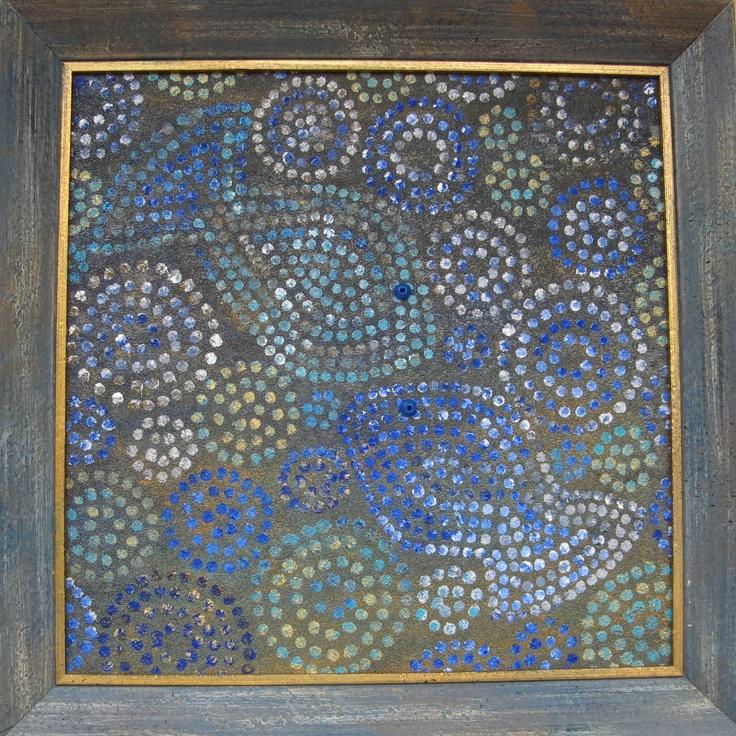 Oil, sand and acrylic on canvas - 40x40cm
