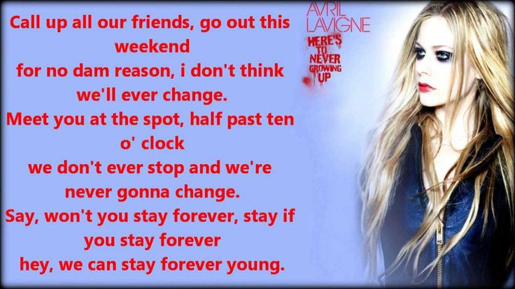 Avril Lavigne - Here's To Never Growing Up (Lyric Video) FAVV