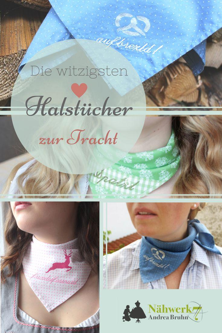 Das zieht die Blicke auf sich! Ein individuelles,witziges und bayrisches Accessoire zur Tracht. Handarbeit aus Bayern! Jedes Halstuch ein Unikat  #bayrisch #Halstuch #Tracht #Accessoire #München #zurTracht #Unikat #individuell #Oktoberfest #dirndlliebe #wiesntrends