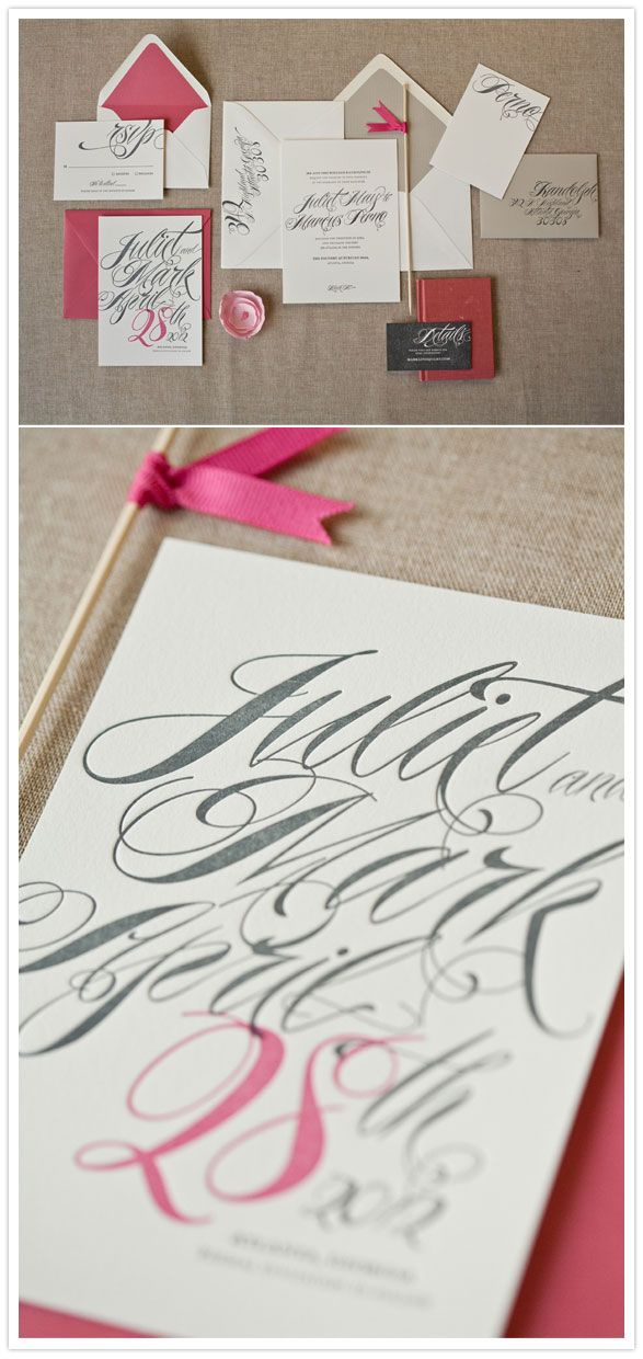 Wedding invitation set by Alee and Press with one of my favorite fonts