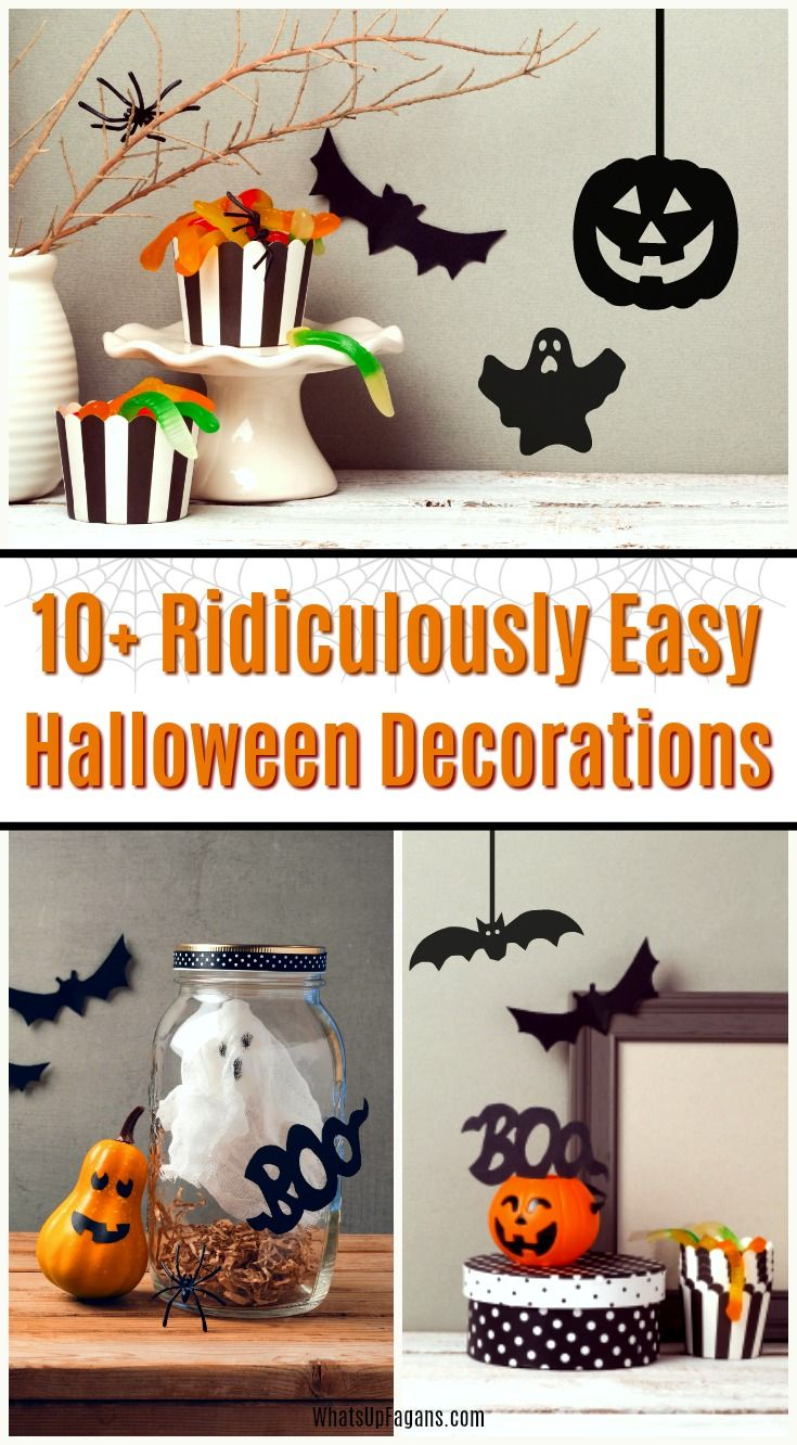Cheap And Easy Diy Halloween Decorations Ideas For Outside And Inside Easy Halloween Decorations Easy Diy Halloween Decorations Diy Halloween Decorations