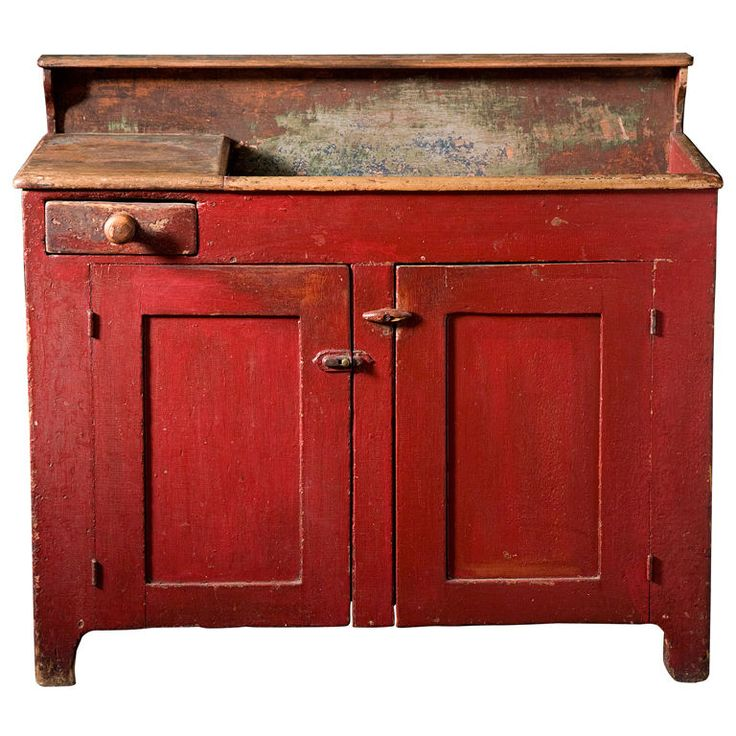 Lovely Cherry Red Dry Sink