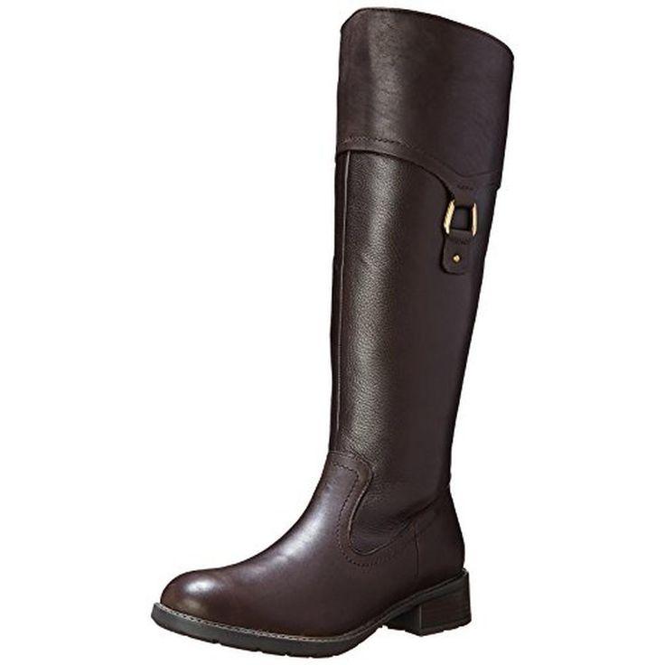 Clarks Womens Swansea Bridge Leather Western Riding Boots