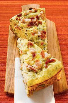 Tarta de puerros, panceta y queso | Recetas de Cocina faciles.