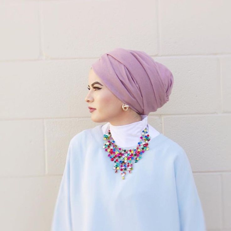 """It's Back! Our light luxury hijab in color Mauve!  Get it at wwww.uniquehijabs.com @omayazein"""