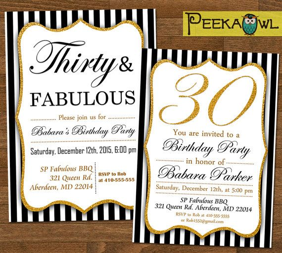 Best 25 30th birthday invitations ideas – 30th Party Invitations