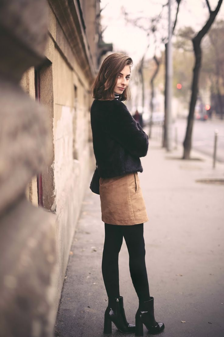 What Vero Wears: WEARING A BROWN A-LINE SKIRT & WITH A STRIPED TOP