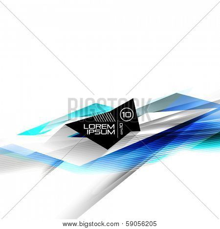 Vector futuristic isolated business lines. For business  technology backgrounds, banners, presentations, infographics. Poster